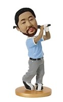 Custom Bobble Head | Male Golfer Mid Swing Bobblehead | Gift Ideas For Men
