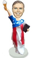 Custom Bobble Head | Statue Of Liberty Colorful Bobblehead | Gift Ideas For Women