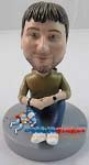Custom Bobble Head | Sitting Casual Male Bobblehead | Gift Ideas For Men
