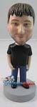 Custom Bobble Head | Black T-Shirt Bobblehead | Gift Ideas For Men