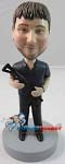 Custom Bobble Head | Man With Machine Gun Bobblehead | Gift Ideas For Men