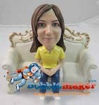 Custom Bobble Head | Woman On Couch Bobblehead | Gift Ideas For Women