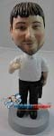 Custom Bobble Head | Casual Male With Briefcase Bobblehead | Gift Ideas For Men
