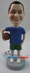 Custom Bobble Head | Man With Basketball At Side Bobblehead | Gift Ideas For Men