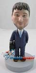 Custom Bobble Head | Businessman With Briefcase Bobblehead | Gift Ideas For Men