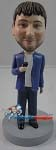 Custom Bobble Head | Casual Male Singer Bobblehead | Gift Ideas For Men