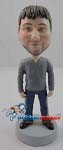 Custom Bobble Head | V-Neck T-Shirt Male Bobblehead | Gift Ideas For Men