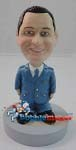 Custom Bobble Head | Multiple Pockets Suit Man Bobblehead | Gift Ideas For Men
