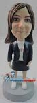 Custom Bobble Head | Office Woman With Skirt Bobblehead | Gift Ideas For Women