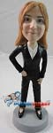 Custom Bobble Head | Pants Suit Woman Bobblehead | Gift For Men