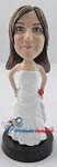 Arms Akimbo Bride bobblehead Doll