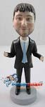 Custom Bobble Head | Open Suit Man Custom Bobblehead | Gift For Men