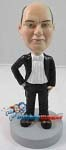 Custom Bobble Head | Tuxedo And Bow Tie Man Bobblehead | Gift Ideas For Wedding