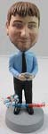 Custom Bobble Head | Texting Man On Phone Bobblehead | Gift Ideas For Men