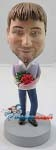 Custom Bobble Head | Man With Roses Bobblehead | Gift Ideas For Men