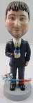 Custom Bobble Head | Tv Reporter Man Bobblehead | Gift For Men