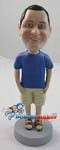 Custom Bobble Head | T-Shirt And Sandals Male Bobblehead | Gift Ideas For Men