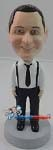 Custom Bobble Head | Business With Suspenders Custom Bobblehead | Gift Ideas For Men