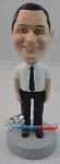 Custom Bobble Head | Short Sleeves And Tie Male Bobblehead | Gift Ideas For Men