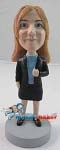 Custom Bobble Head | Office Woman In Blazer Bobblehead | Gift Ideas For Women