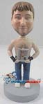 Custom Bobble Head | Man With Trophy And No Shirt Bobblehead | Gift Ideas For Men