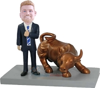 Stock Market Executive Custom Bobblehead Doll