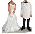 Custom Bobble Head | Bride With Gloves And Groom Bobblehead | Gift Ideas For Wedding