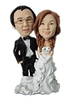 Custom Bobble Head | Simple Bride And Groom Bobblehead | Gift Ideas For Wedding