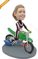Custom Bobble Head | Dirt Bike Female Bobblehead | Gift Ideas For Women