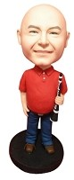 Custom Bobble Head | Male Clarinet Player Bobblehead | Gift Ideas For Men