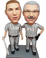 Custom Bobble Head | Two Male Baseball Players Bobblehead | Gifts for Couples