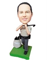 Custom Bobble Head | Policeman Golfer Bobblehead | Gift Ideas For Men