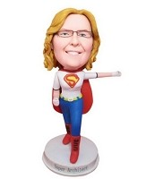 Custom Bobble Head | Superwoman Arm Out Bobblehead | Gift Ideas For Women