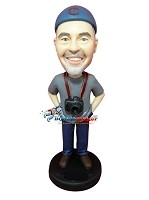 Custom Bobble Head | Male Photographer Bobblehead | Gift Ideas For Men