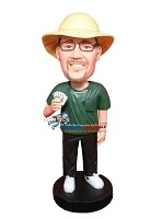 Custom Bobble Head | Winning Hand Poker Player Bobblehead | Gift Ideas For Men