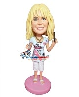 Custom Bobble Head | Hair Dresser Female Bobblehead | Gift Ideas For Women