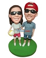 Custom Bobble Head | Volleyball Couple Bobblehead | Gifts for Couples