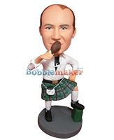 Custom Bobble Head | Scottish Dress Man Bobblehead | Gift For Men