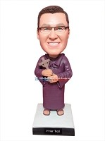 Custom Bobble Head | Priest Holding Cross Bobblehead | Gift For Men
