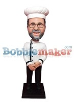 Custom Bobble Head | Man In Chef Coat Bobblehead | Gift Ideas For Men