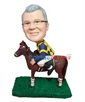 Custom Bobble Head | Male Jockey Custom Bobblehead | Gift For Men