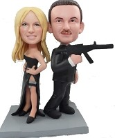 Custom Bobble Head | Spy Couple Bobblehead | Gifts for Couples