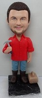 Custom Bobble Head | Handyman With Hammer Bobblehead | Gift For Men
