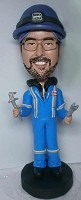 Custom Bobble Head | Male Plumber With Wrenches Bobblehead | Gift Ideas For Men