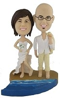 Custom Bobble Head | Beach Wedding Couple Bobblehead | Gift Ideas For Wedding