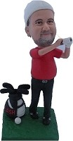 Custom Bobble Head | Driving It Male Golfer Bobblehead | Gift Ideas For Men