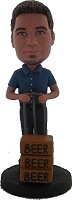 Custom Bobble Head | Beer Delivery Man Bobblehead | Gift Ideas For Men