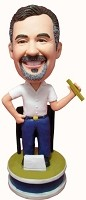 Custom Bobble Head | Male Math Teacher Bobblehead | Gift Ideas For Men