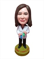 Custom Bobble Head | Lab Worker With Test Tubes Bobblehead | Gift Ideas For Females