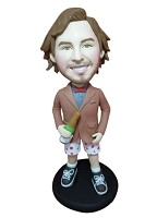 Custom Bobble Head | Beer Drinking Hipster Bobblehead | Gift Ideas For Men